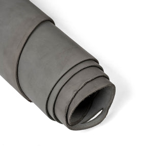 Close up of rolled ChahinLeather Gray Skirting