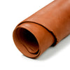 Close up of rolled ChahinLeather Light Chestnut Skirting