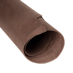 Close up of rolled ChahinLeather Penetrated Brown Skirting