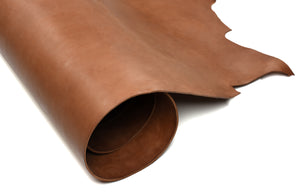 Rolled side of ChahinLeather Sandy Brown Harness with Colorfast