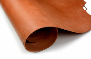 Rolled side of ChahinLeather Light Chestnut Skirting