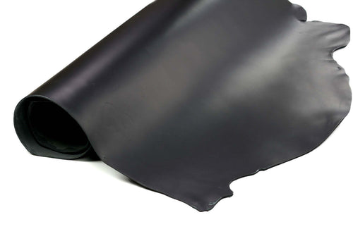 Rolled side of ChahinLeather Black Motorcycle Leather