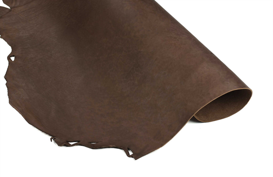 Half rolled side of Special ChahinLeather Economy Brown Tooling Strap