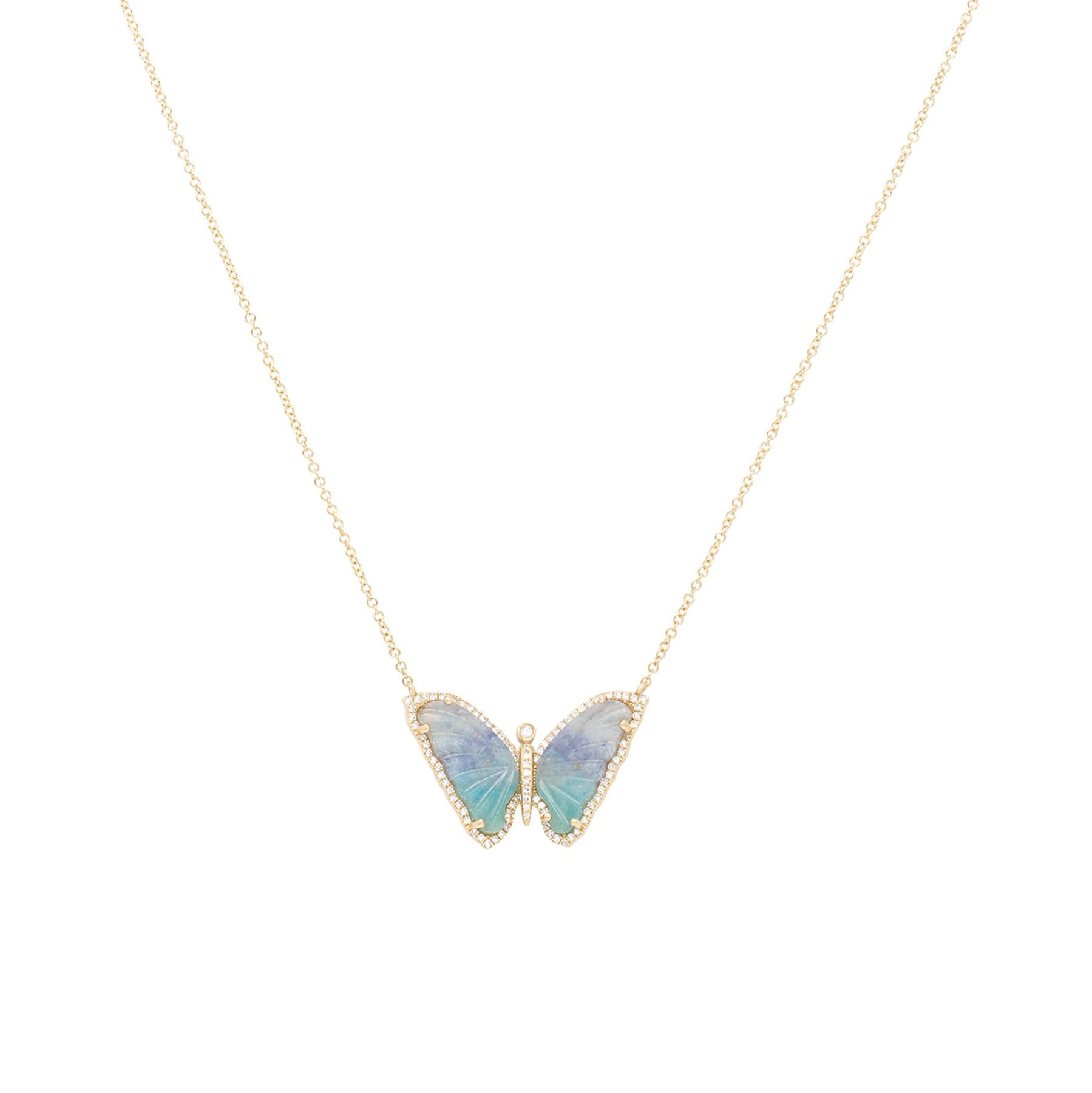 Paraiba Butterfly Diamond Necklace
