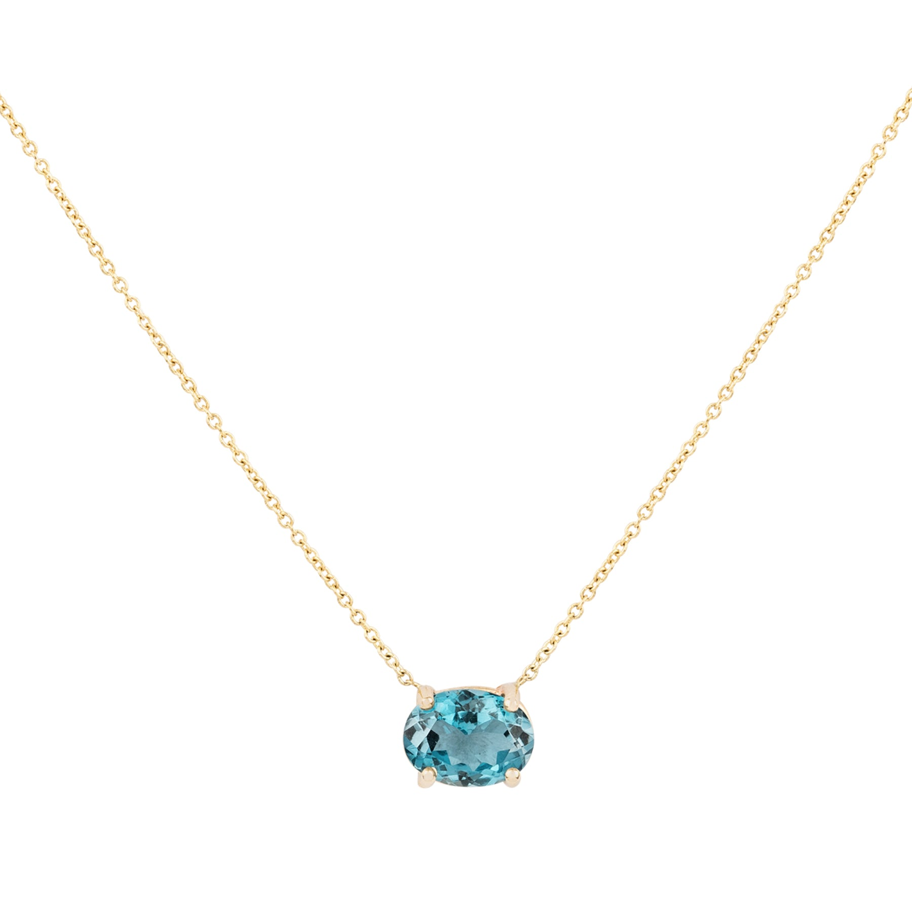 Gem Candy Blue Flourite Oval Necklace