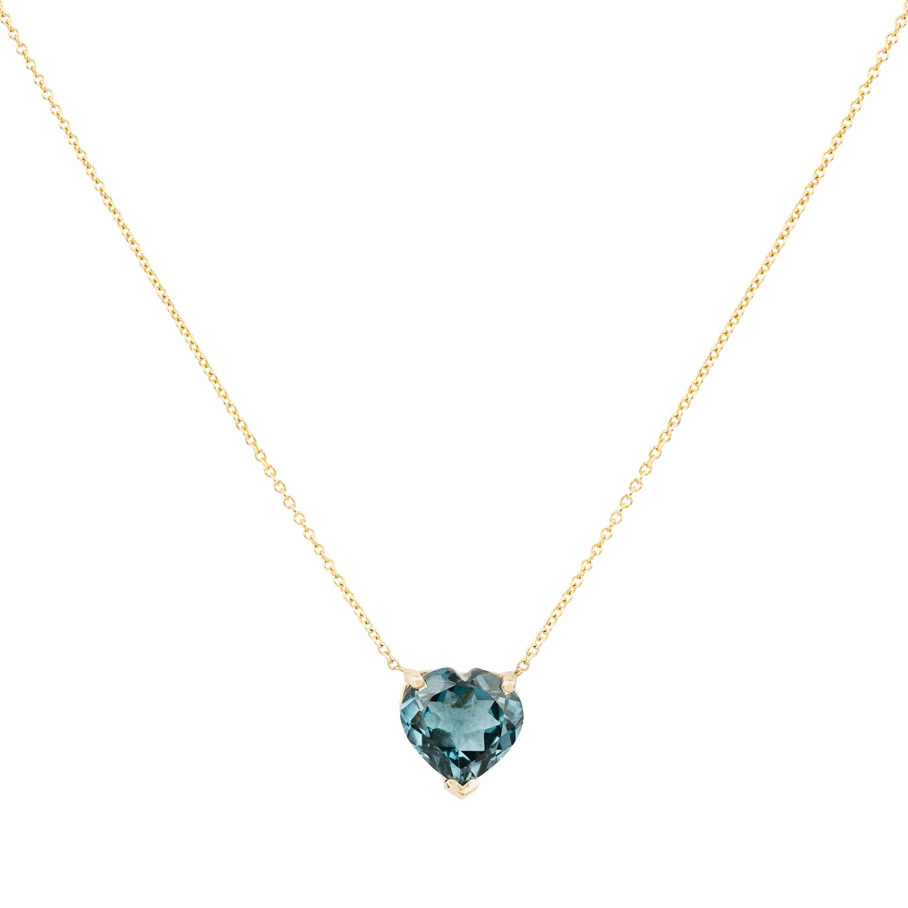Gem Candy London Blue Topaz Heart Necklace