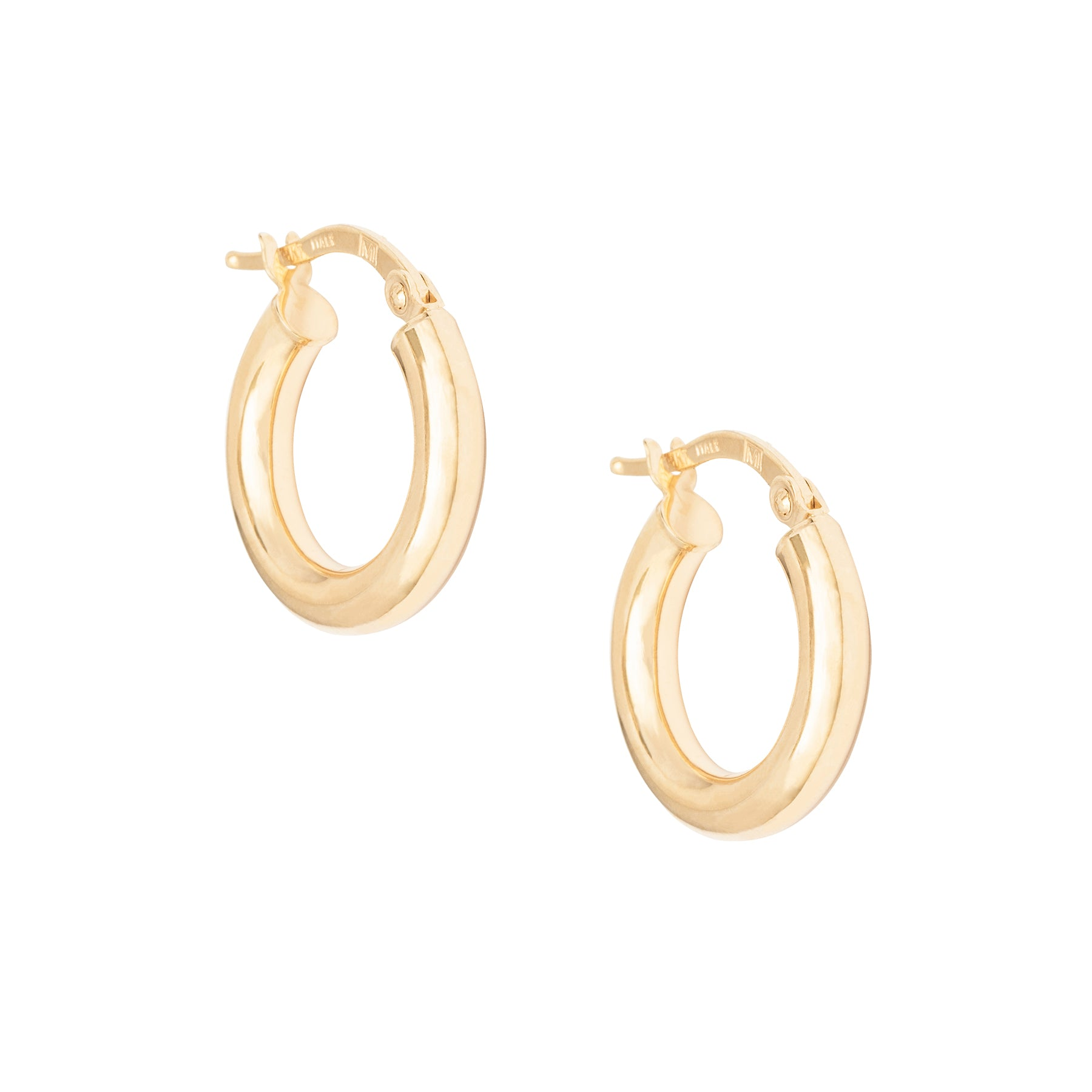 ".5"" 3MM Thick Gold Hoops"