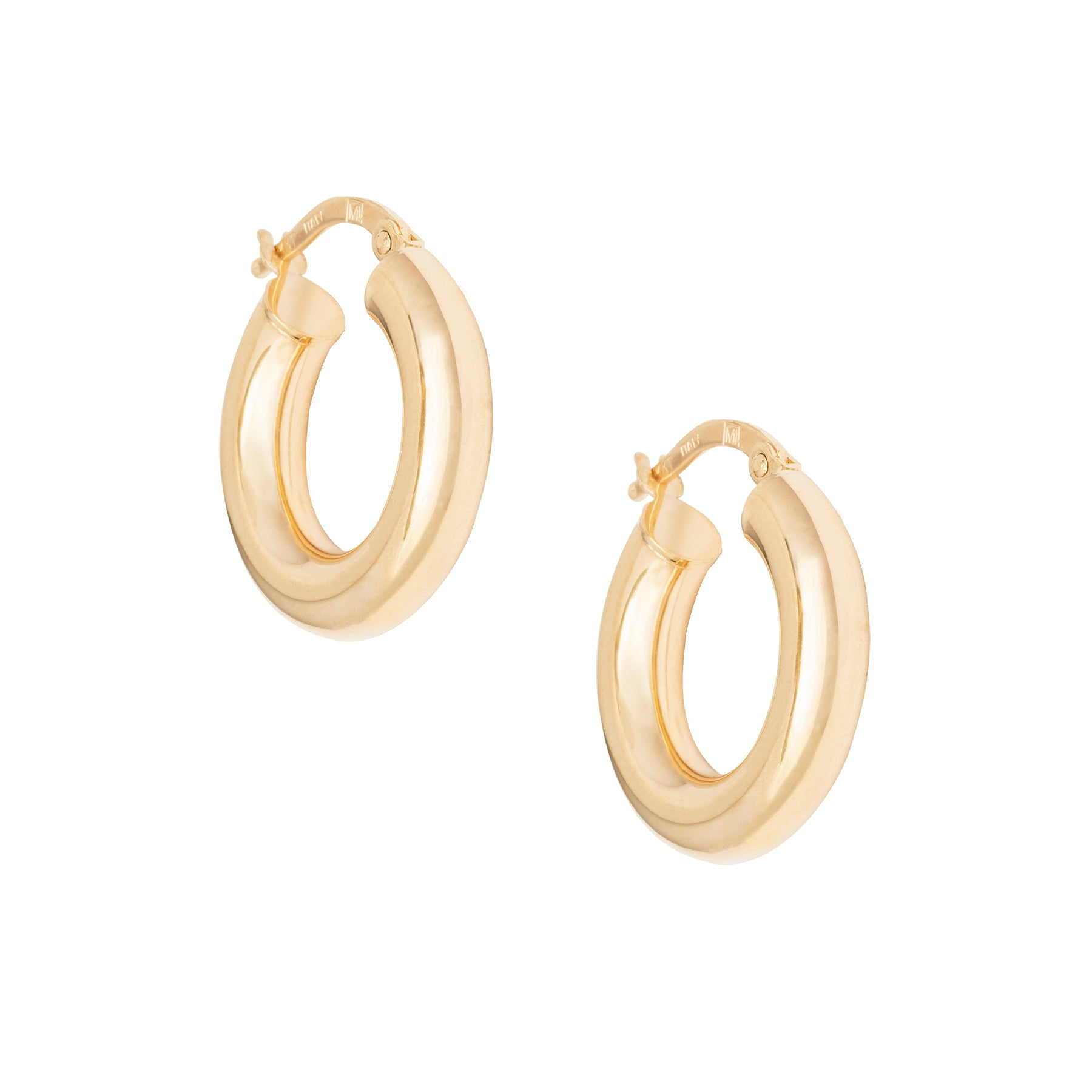".75"" 4MM Thick Gold Hoops"