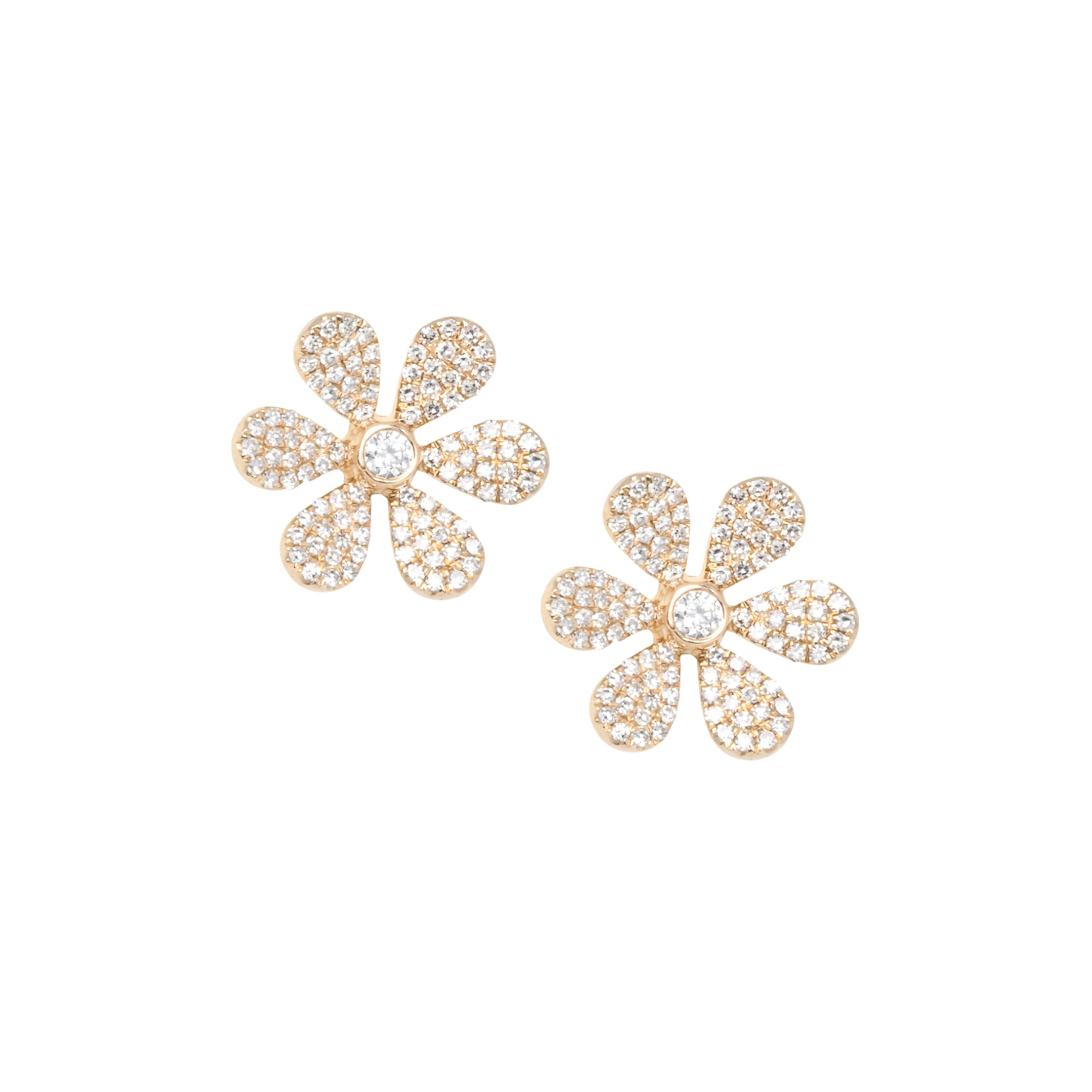Large Daisy Pave Studs
