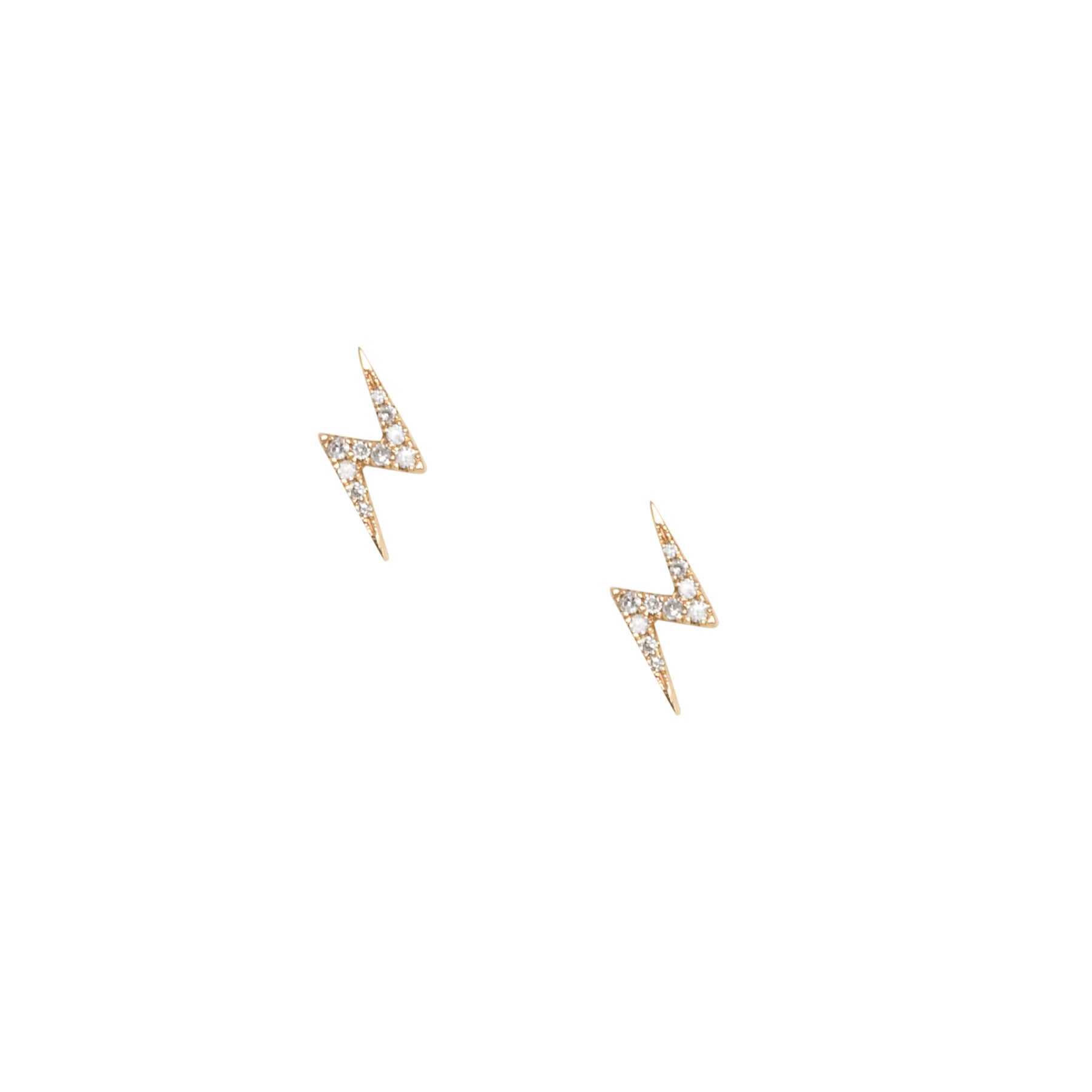 Lightning Bolt Medium Diamond Studs