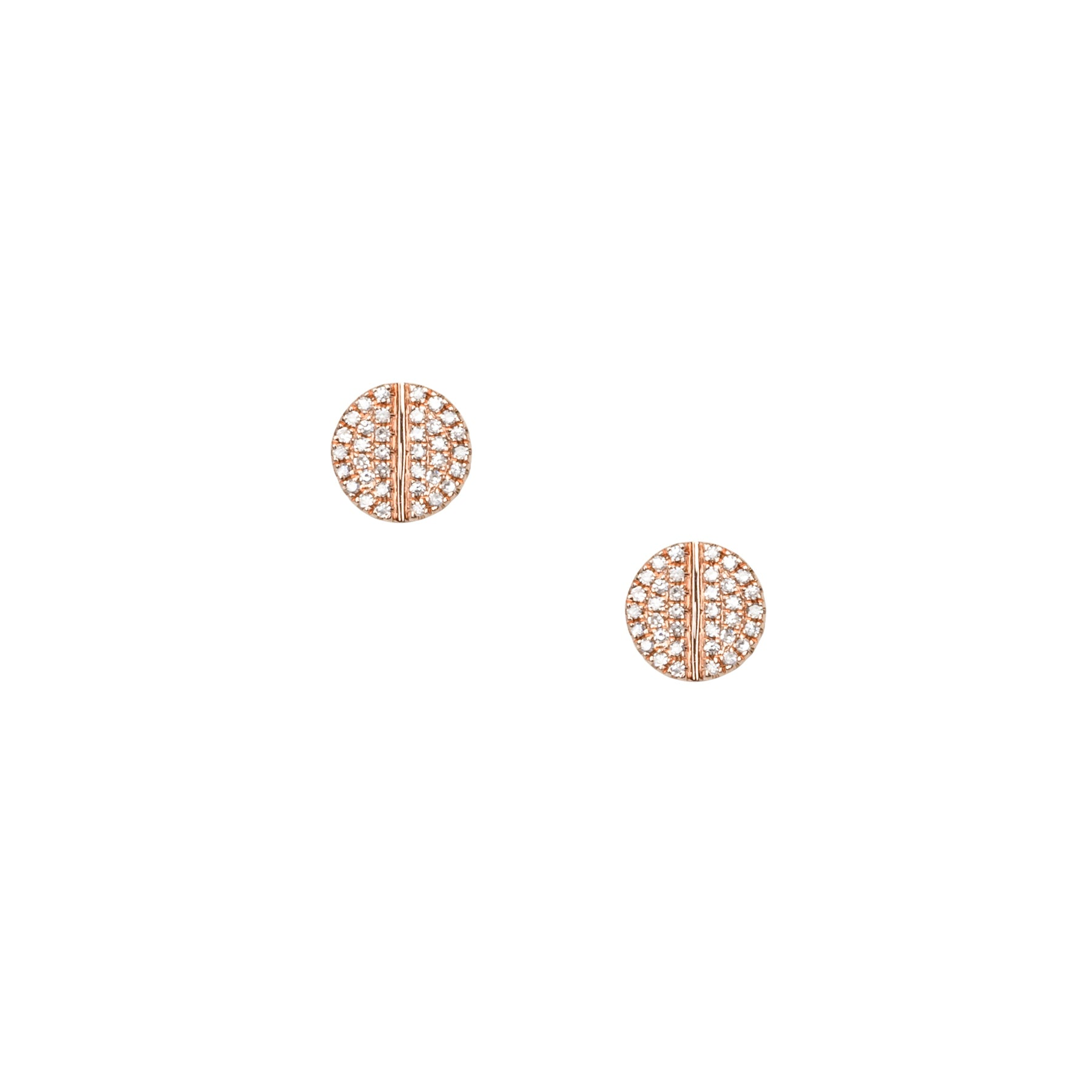 Screw Pave Diamond Studs