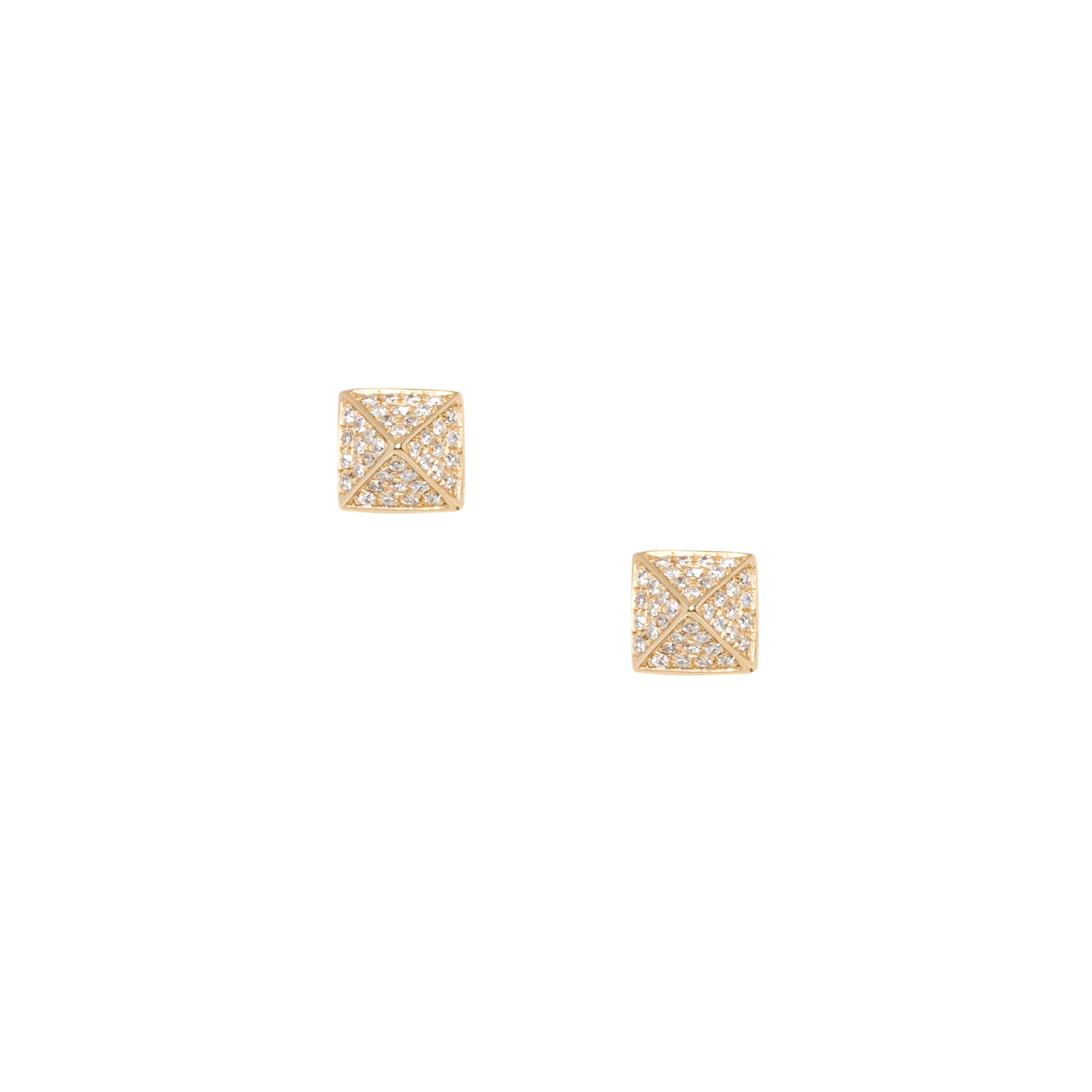 Pyramid Medium Diamond Studs