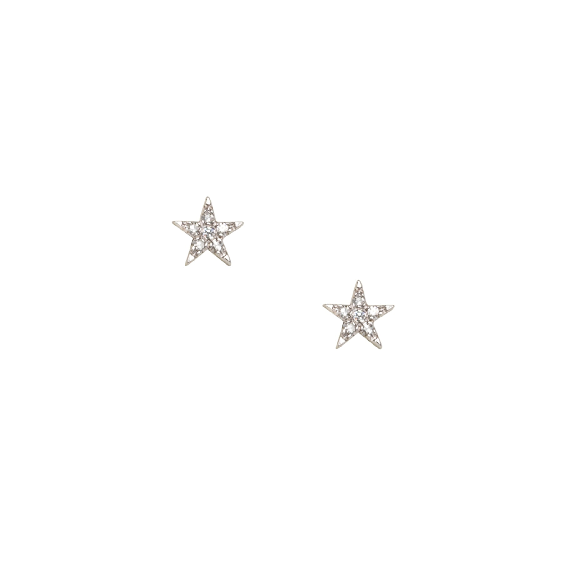 Pointy Star Diamond Studs