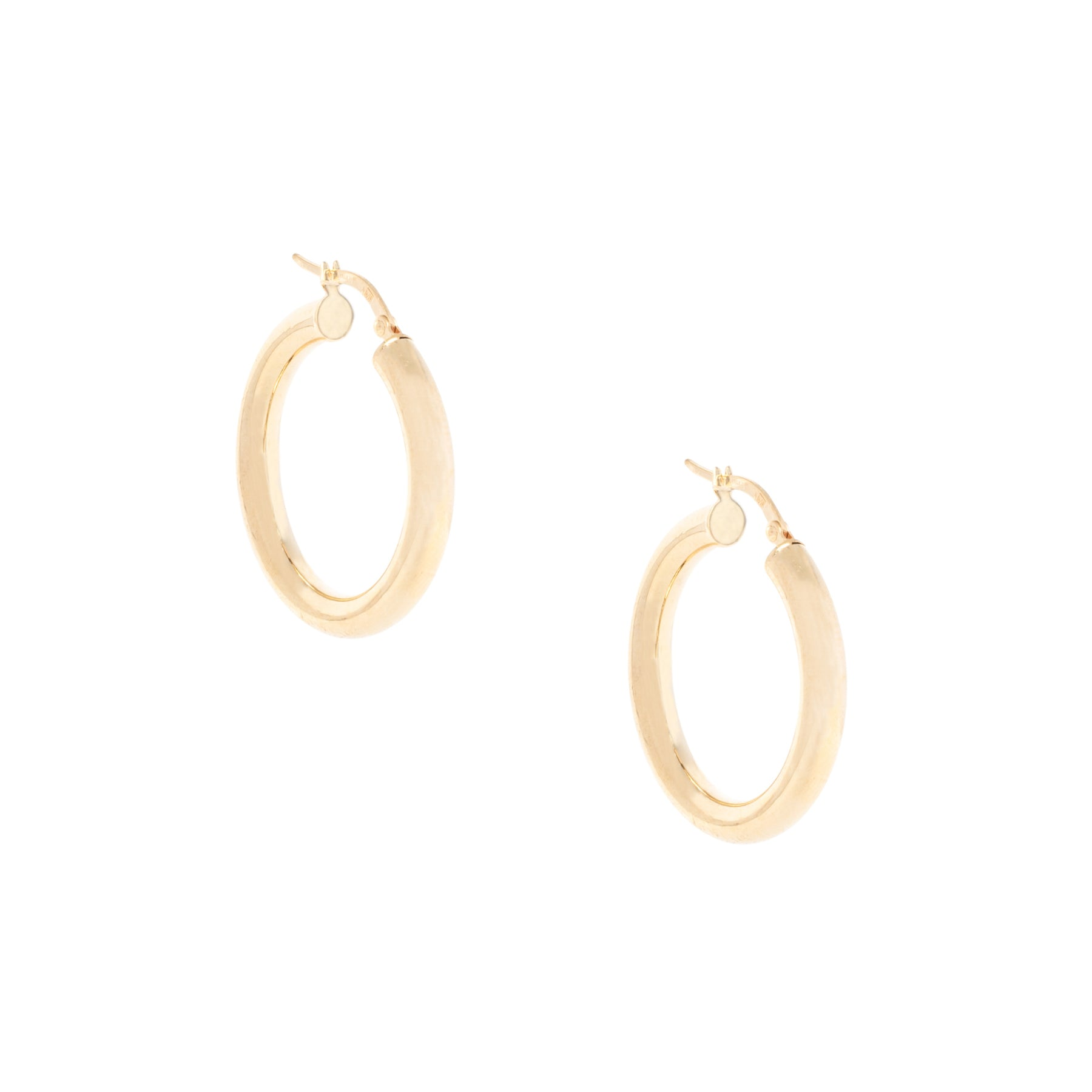1.25 4MM Thick Gold Hoops