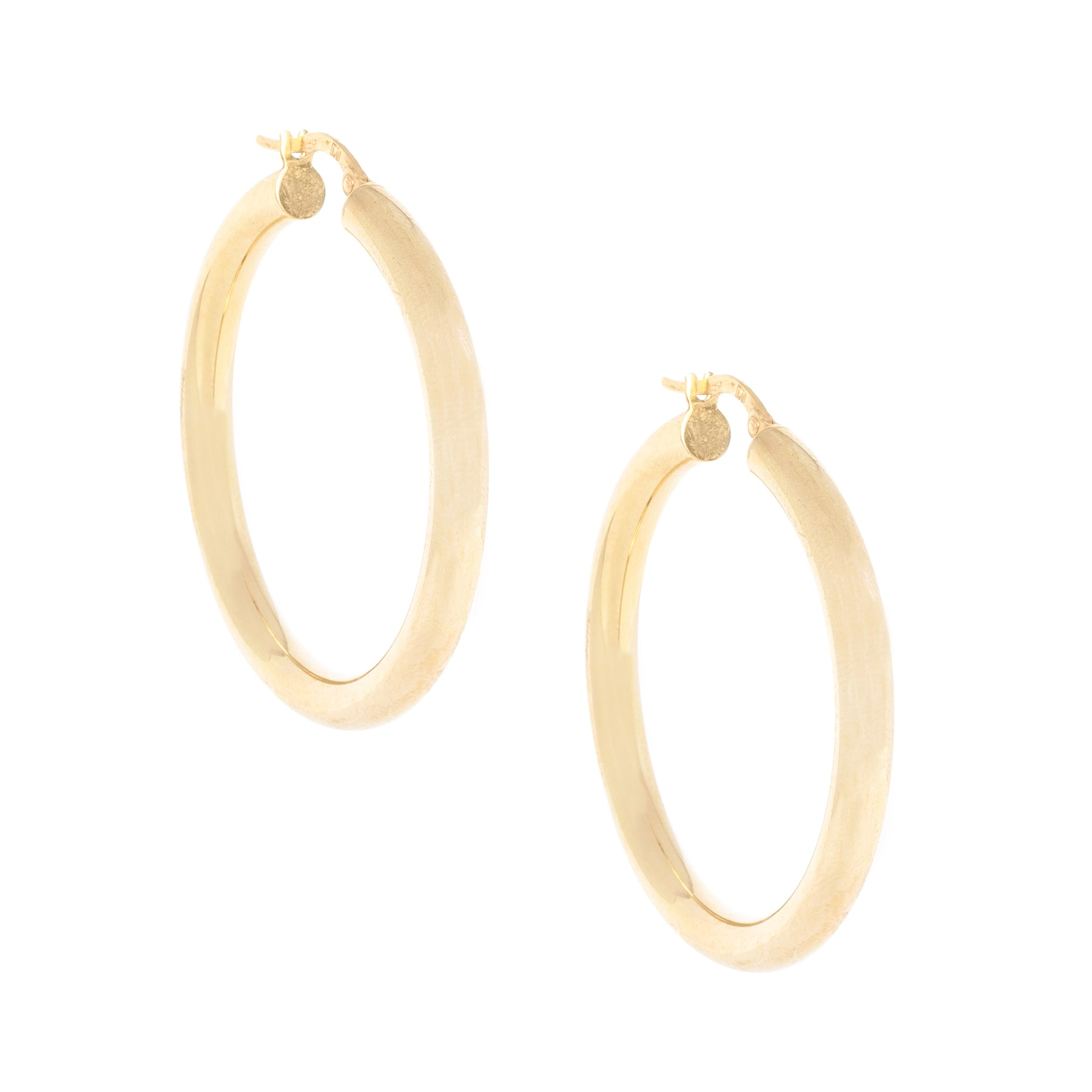"2.5"" 4MM Thick Gold Hoops"