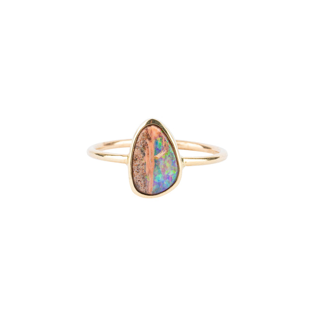 Sunset Opal Bezel Ring