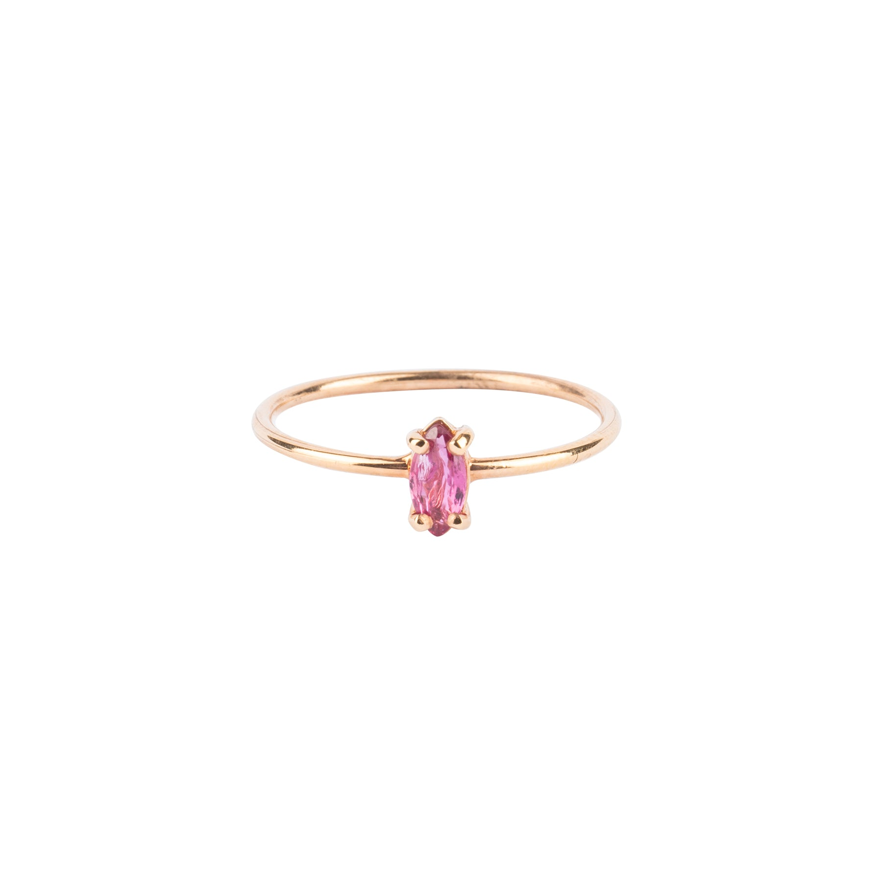 Gem Candy Tiny Marquise Pink Tourmaline Ring