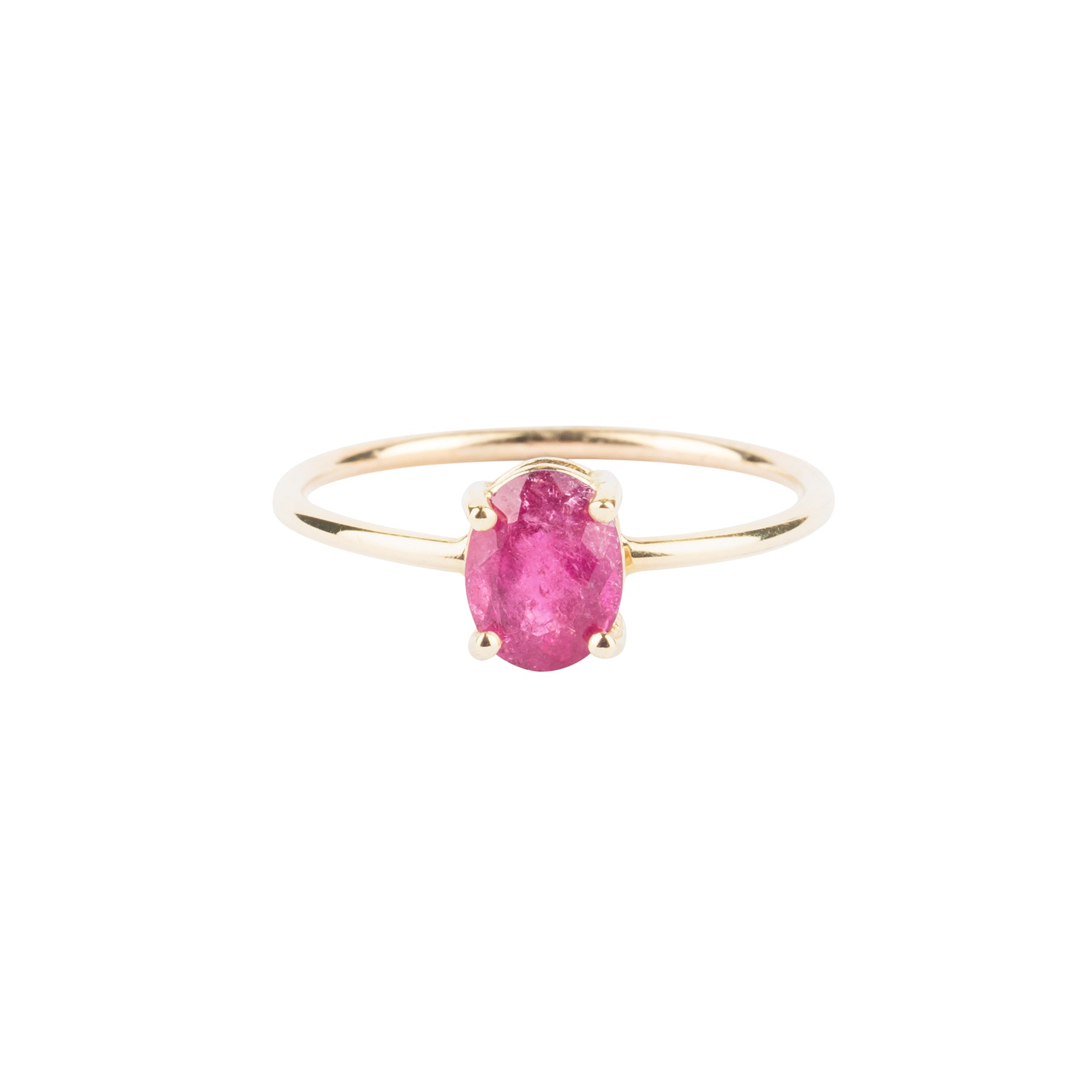 Gem Candy Pink Tourmaline Oval Ring