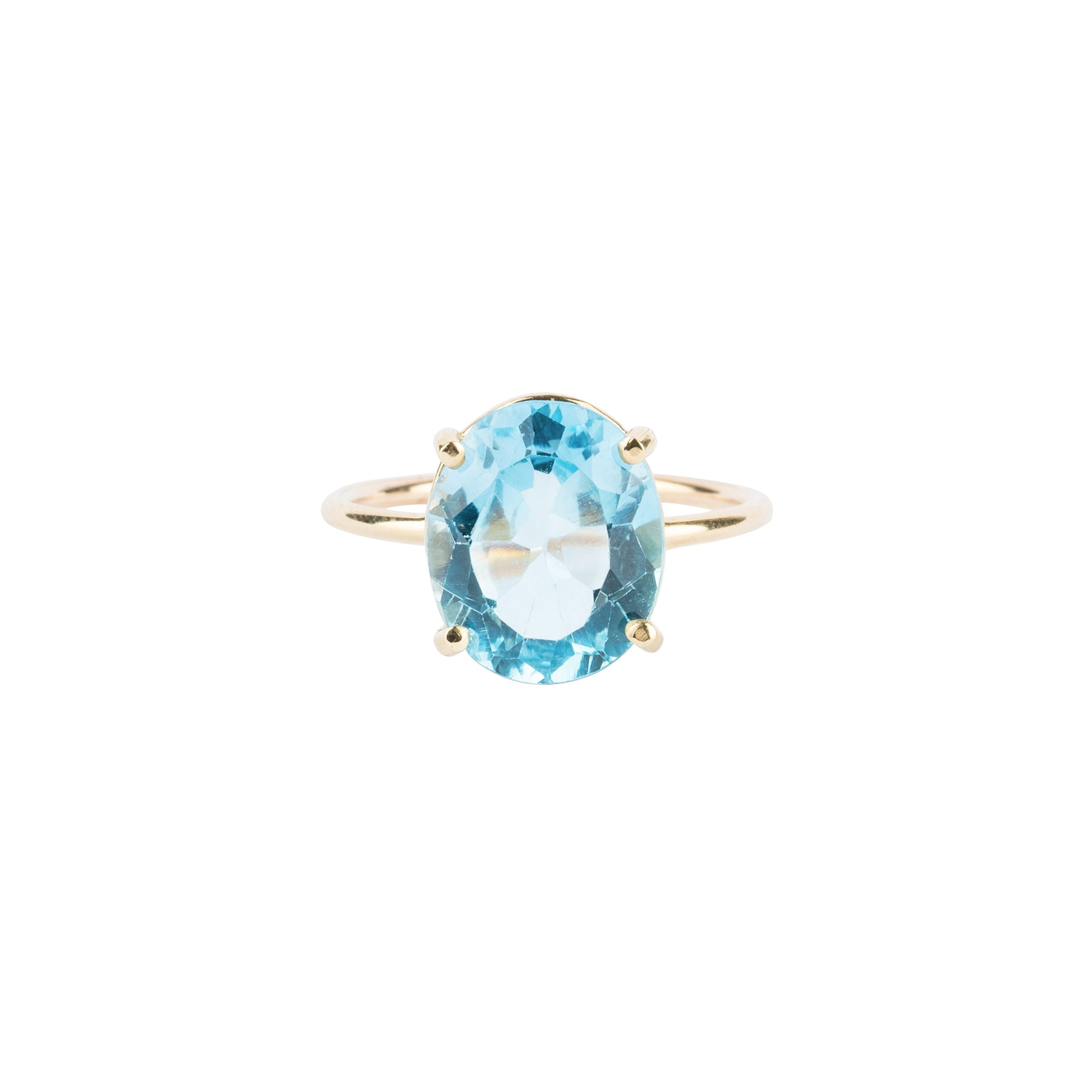 Gem Candy Sky Blue Topaz Oval Ring