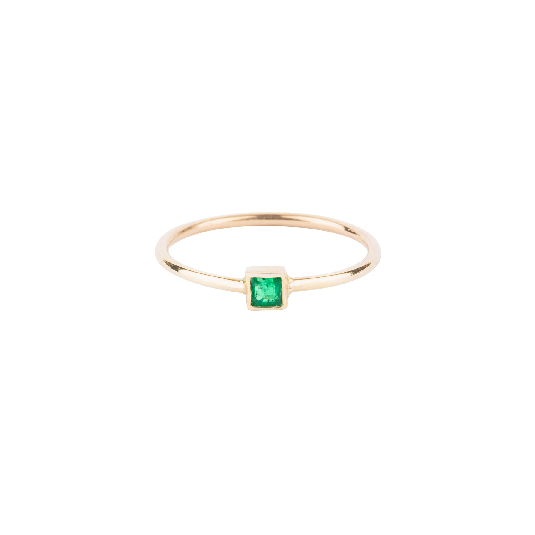 Tiny Emerald Princess Ring