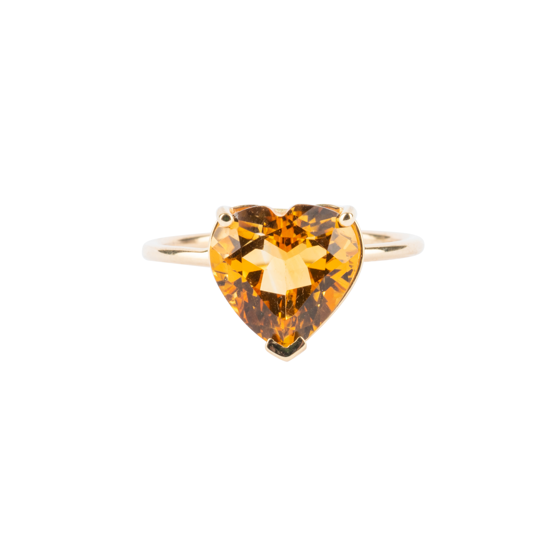 Gem Candy Citrine Heart Ring