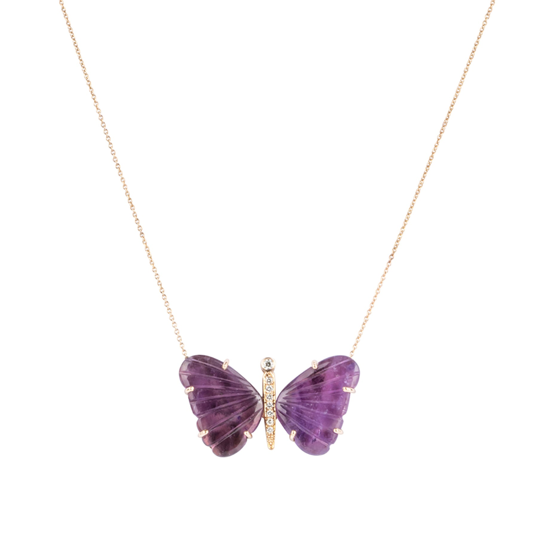 Medium Amethyst Butterfly Necklace