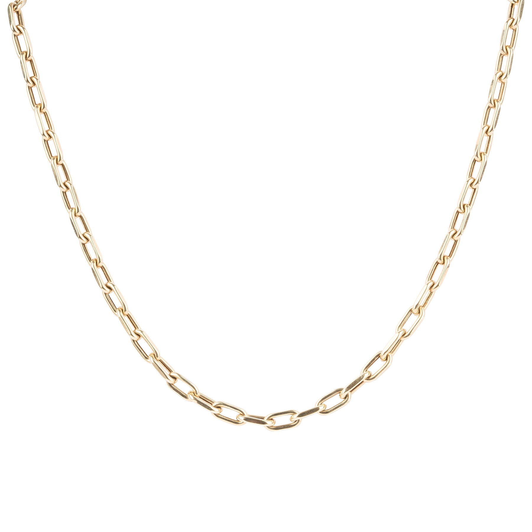 14K 18.9 Gram Oval Chain Link Necklace