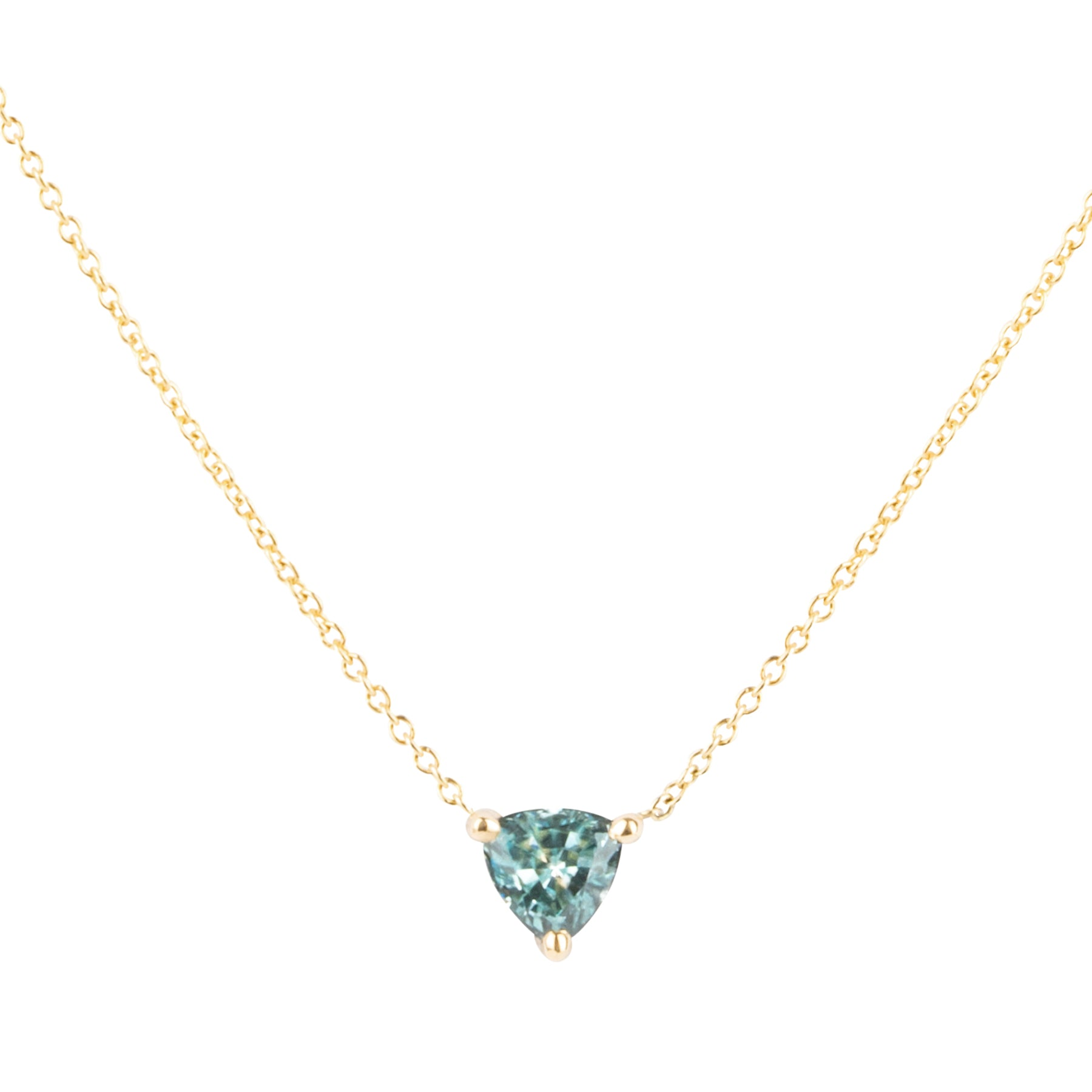 Gem Candy Light Green Tourmaline Trillion Necklace