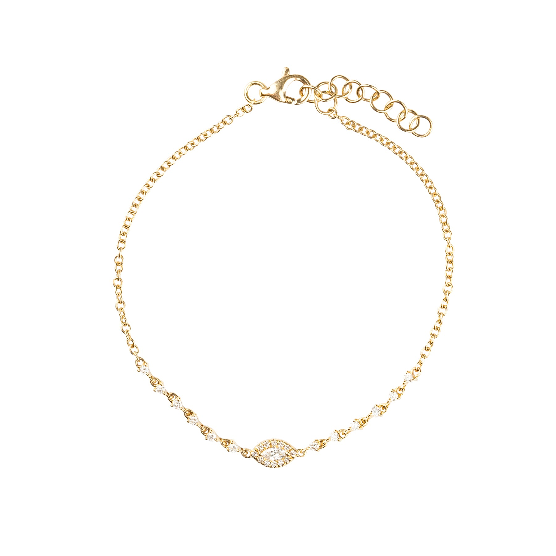 Marquise Diamond Tennis Bracelet