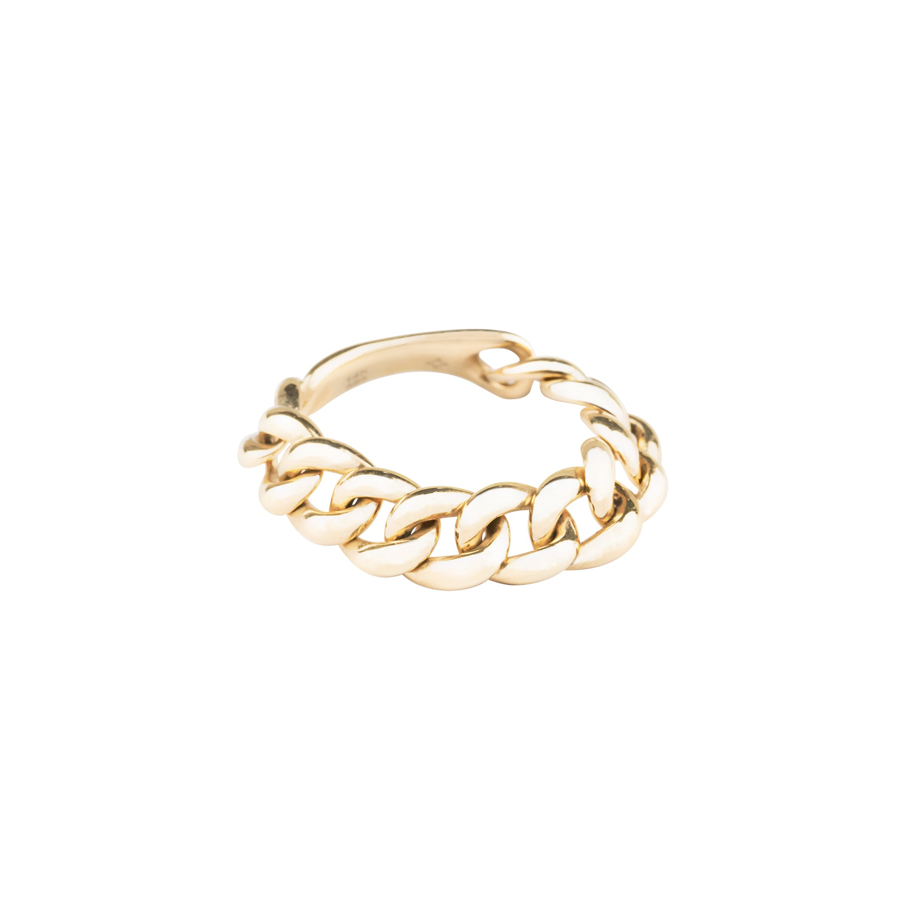 Plain Gold Chain Link Ring