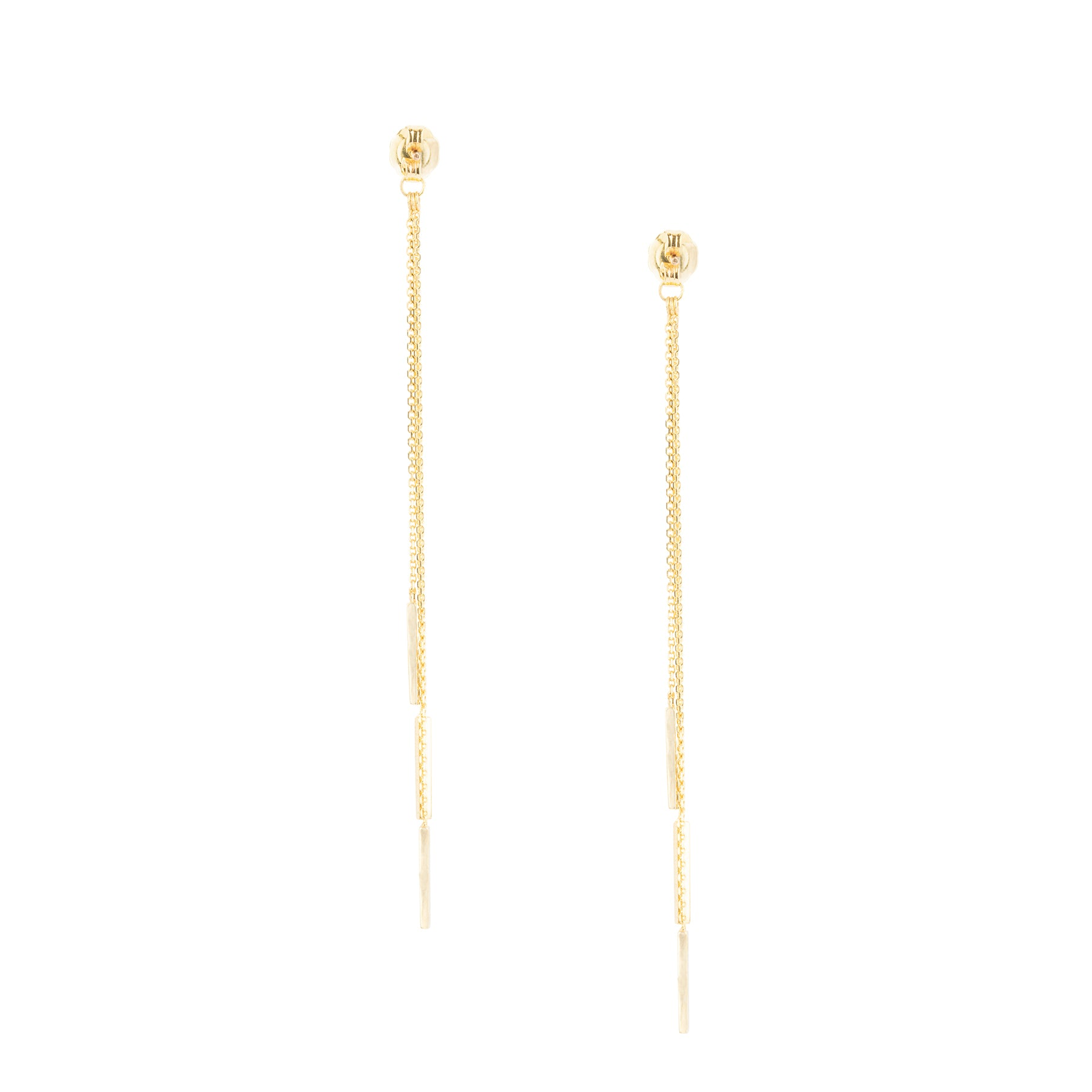 3 Bar Chain Earring Backings