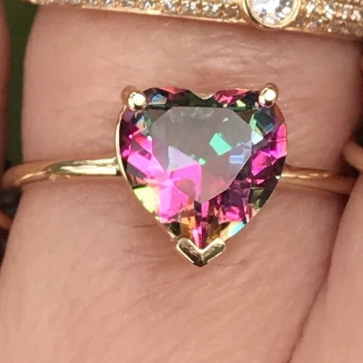 Gem Candy Mystic Topaz Heart Ring