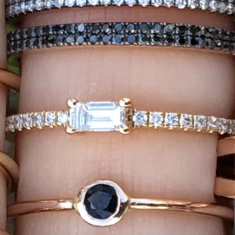 Baguette Diamond Stacker Ring