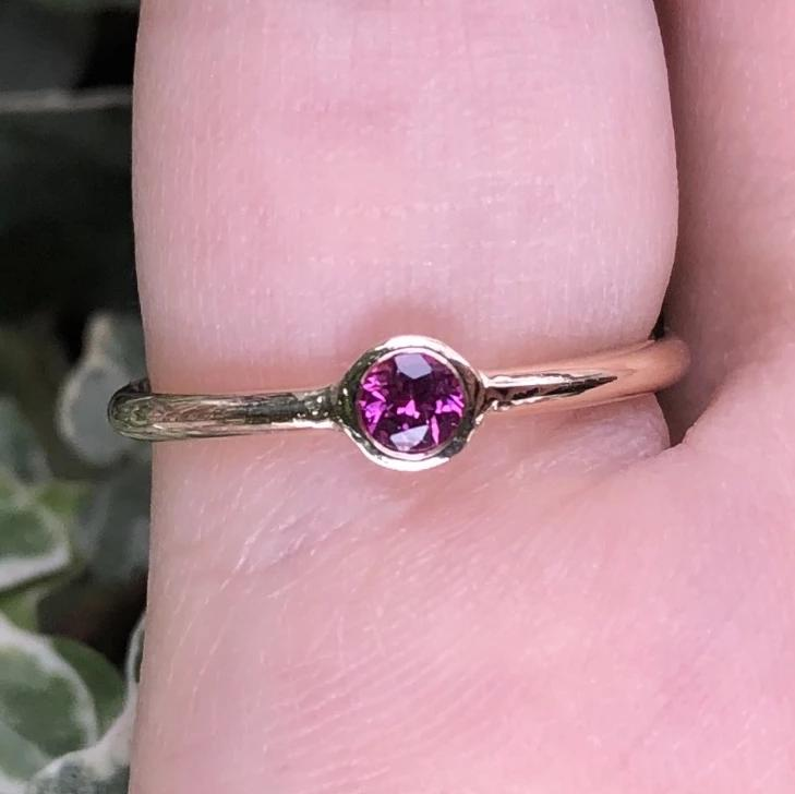 Gem Candy Ruby Bezel Set Band Ring