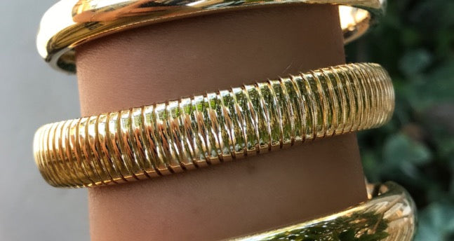 Italian Gold Flexible Dome Cuff
