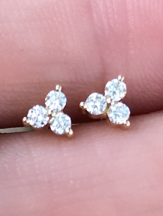 Triad Diamond Studs