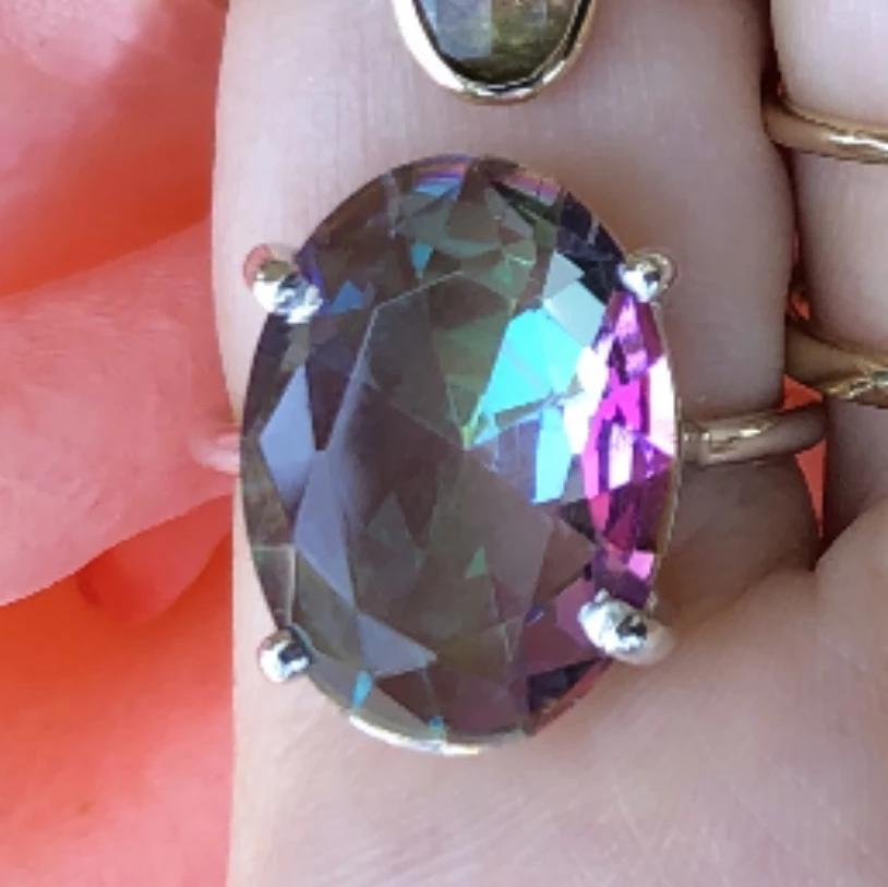 Gem Candy Large Oval Mystic Topaz Ring
