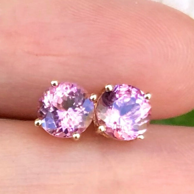 Gem Candy Pink Spinel Studs