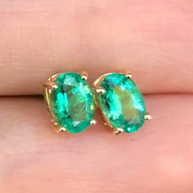 Gem Candy Emerald Studs