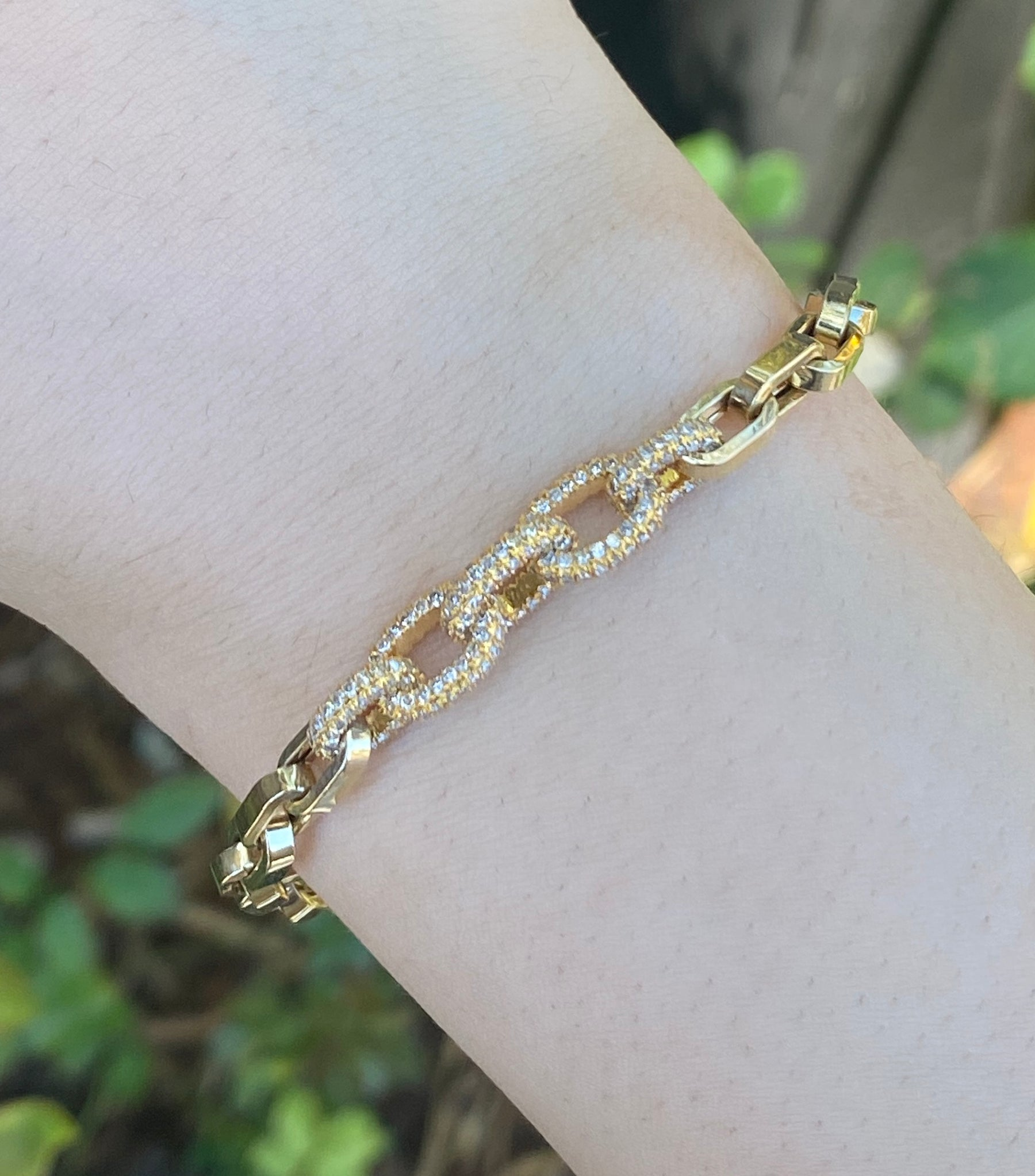 Diamond Cable Chain Bracelet