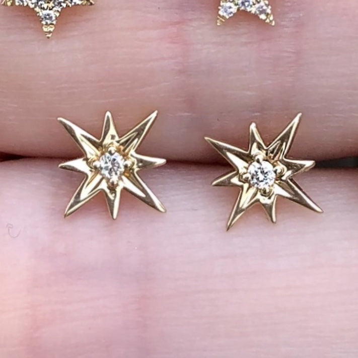Starburst Tiny Diamond Studs