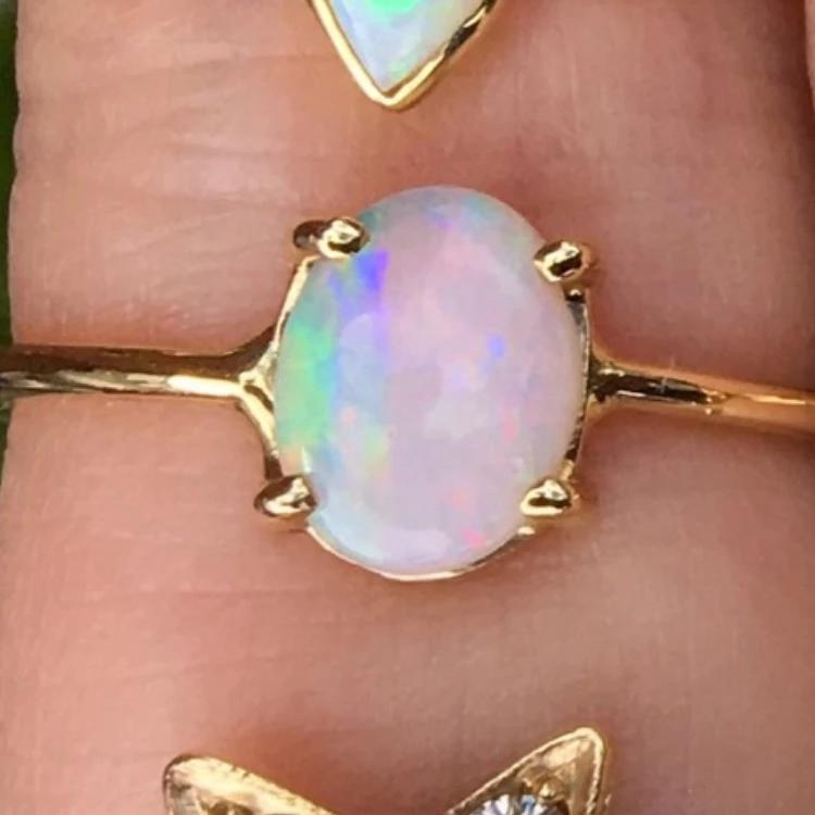 Charlie & Marcelle Small Oval Opal Ring