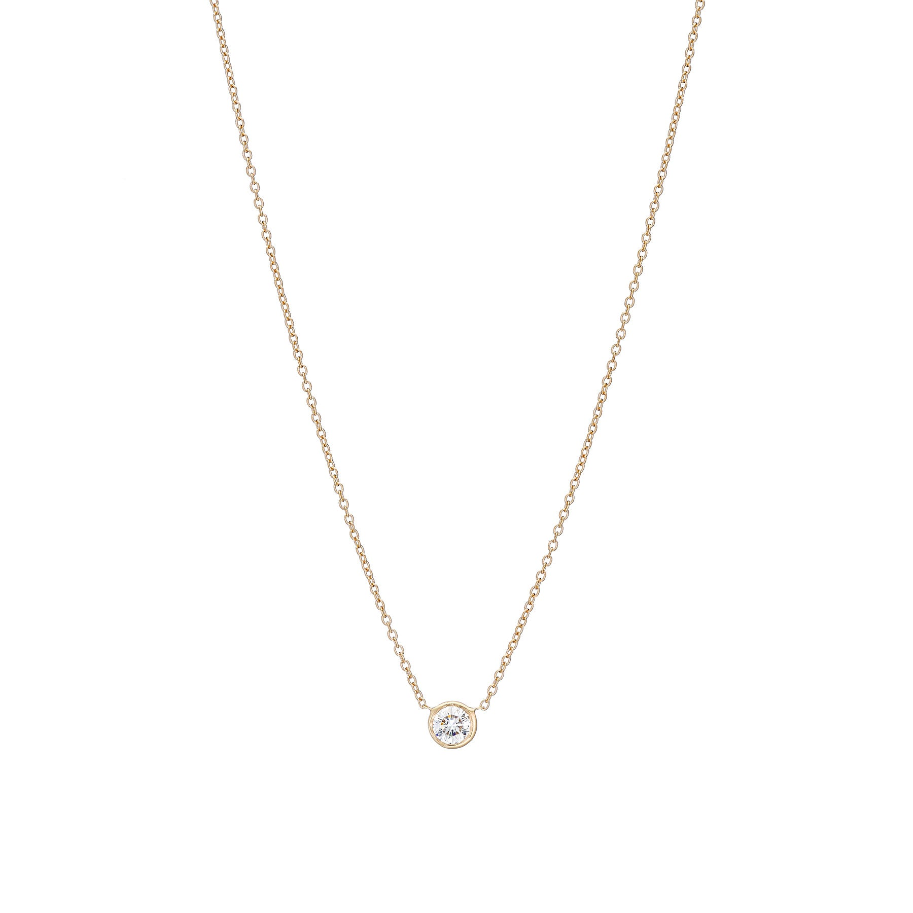 Diamond Bezel Necklace .25 Carat