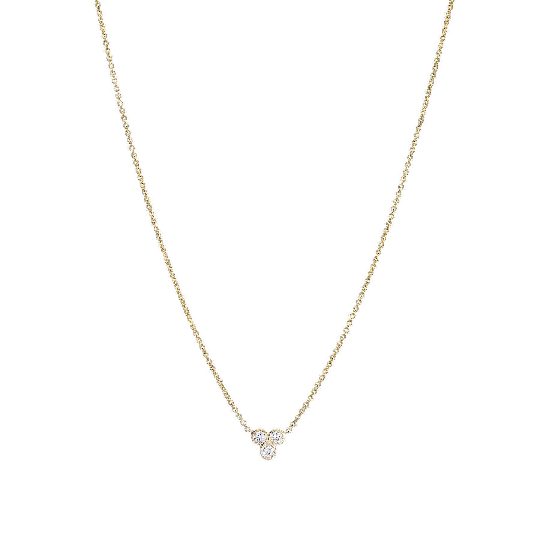 Triad Bezel Necklace