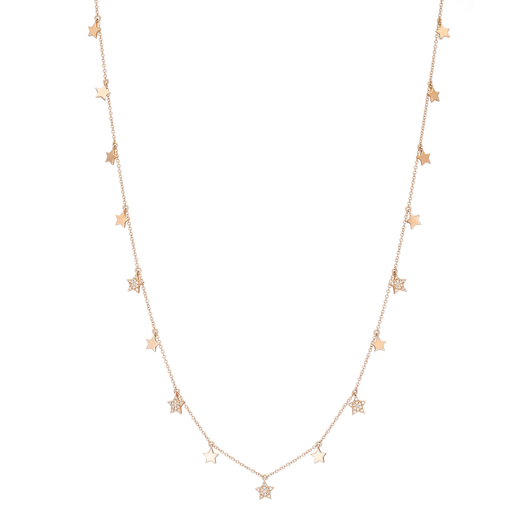 Sparkling Stars Drop Necklace