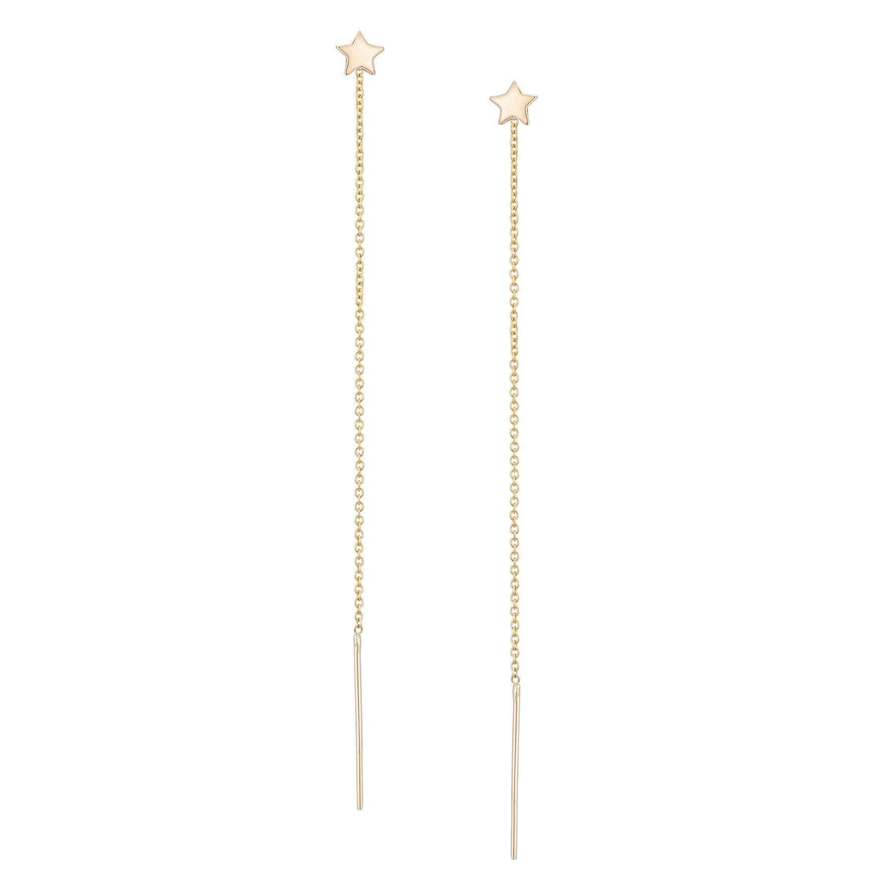 Small Star Pull Through Earrings