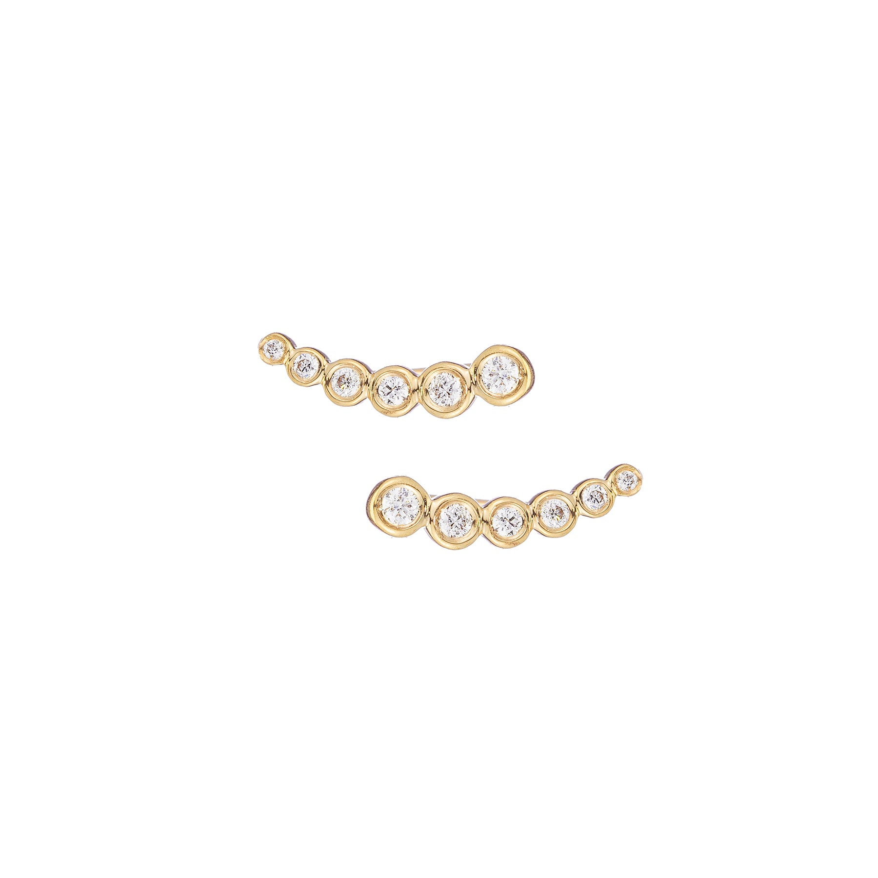 6 Diamond Bezel Ear Climber