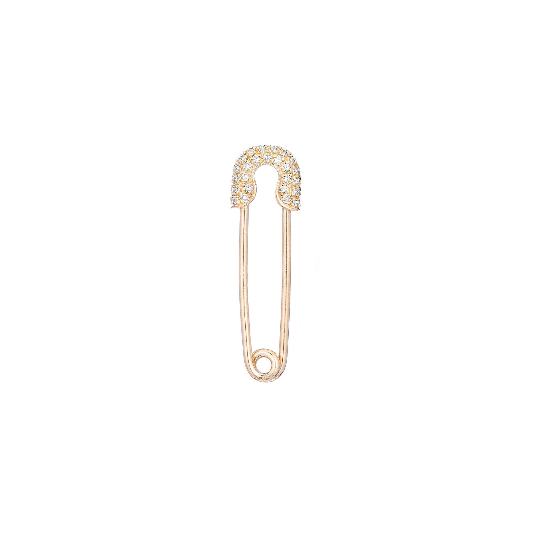 Diamond Pave Safety Pin Small