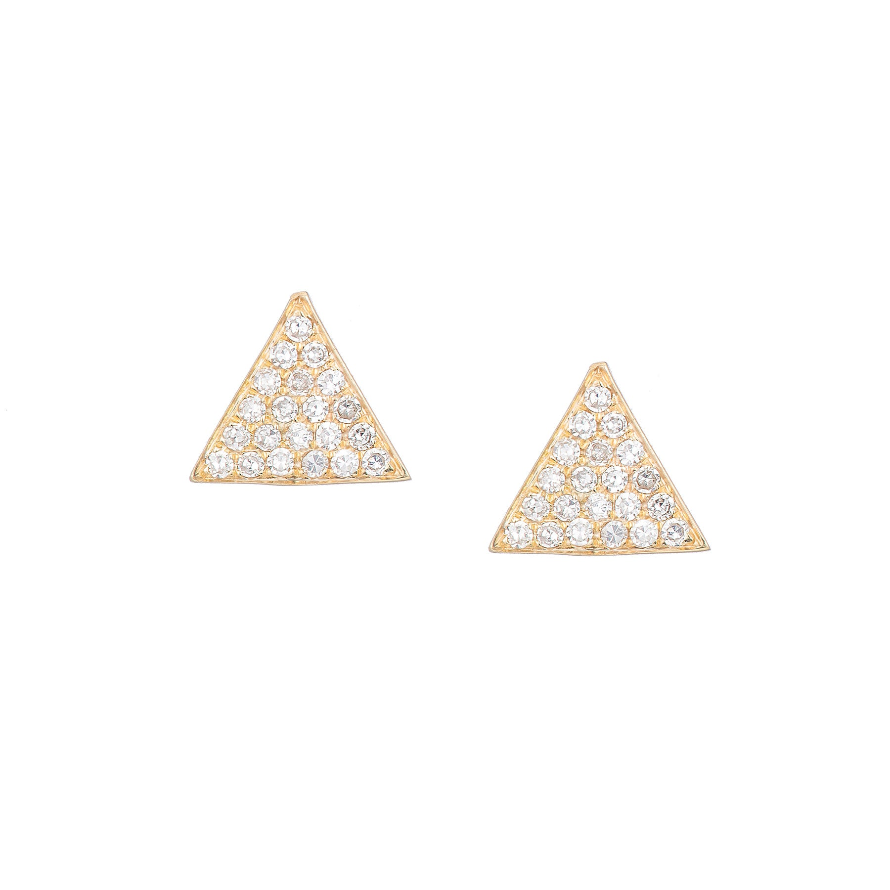 Pave Large Triangle Studs