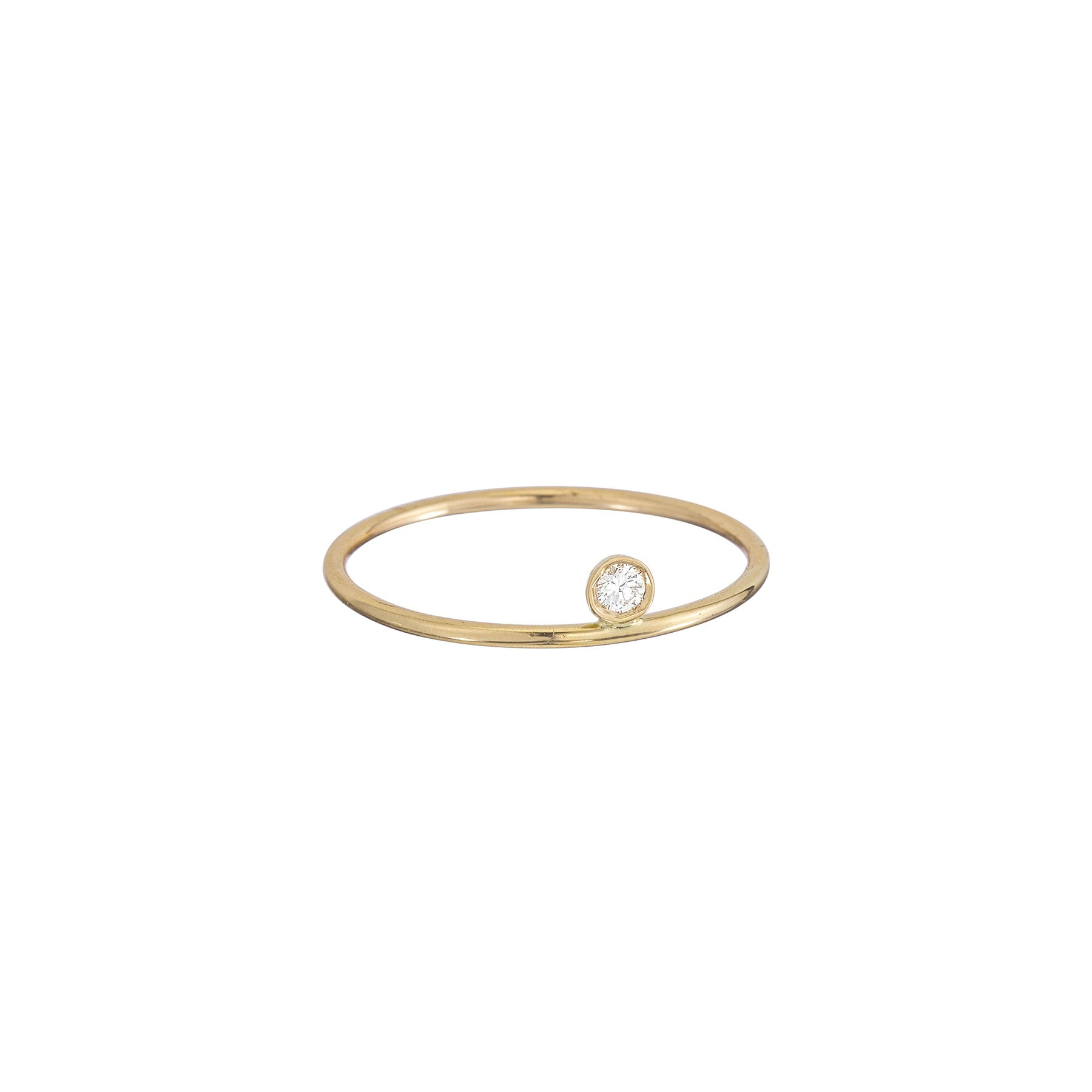 Thin Band Top Bezel Ring